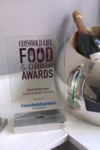 Gareth's Chef of the Year award